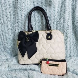 Betsey Johnson purse and wallet SET